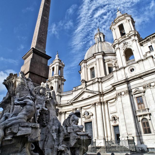 """Piazza Navona, Rome, Italy"" stock image"