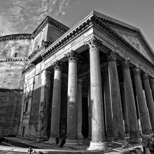 """The Pantheon, Rome"" stock image"