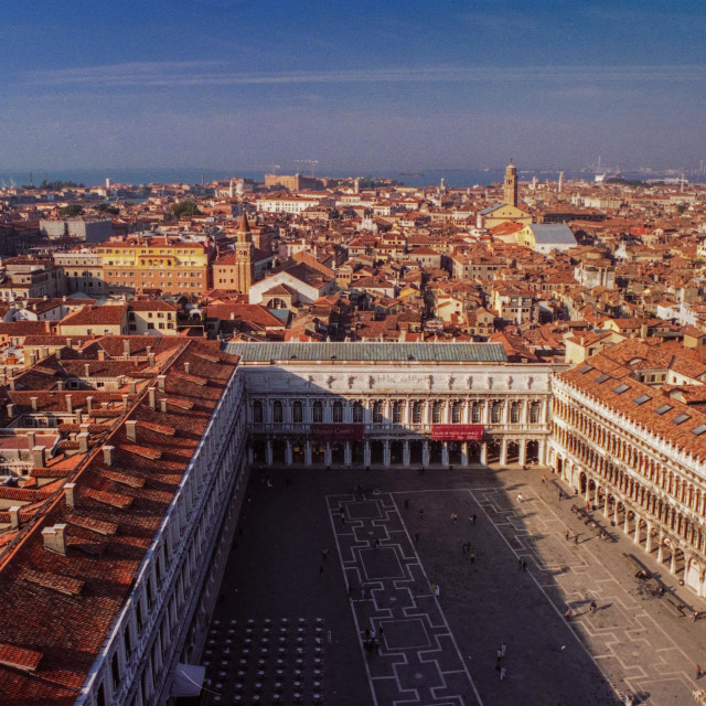 """""""Venice & St. Marks Sq. from above"""" stock image"""
