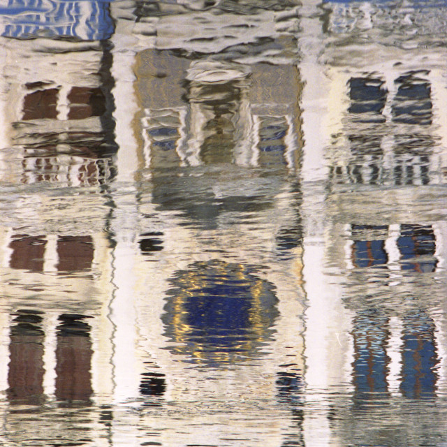 """Marzaria clocktower reflection"" stock image"