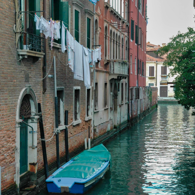 """""""Canal with laundry #1"""" stock image"""