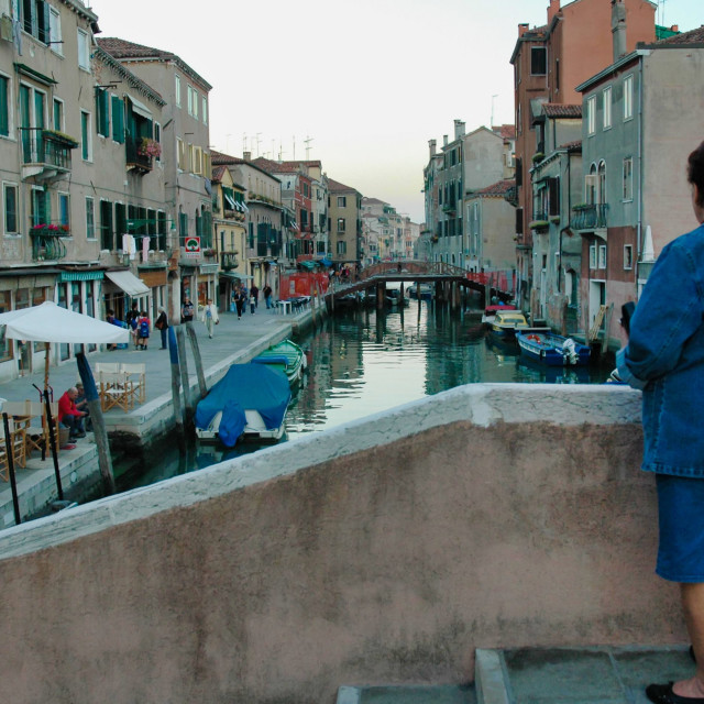 """""""Canal with woman"""" stock image"""