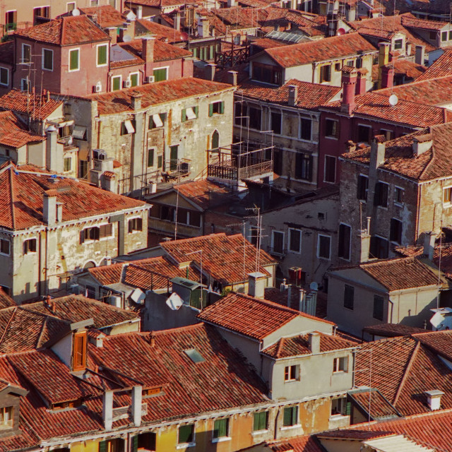 """""""Venice Rooftops"""" stock image"""