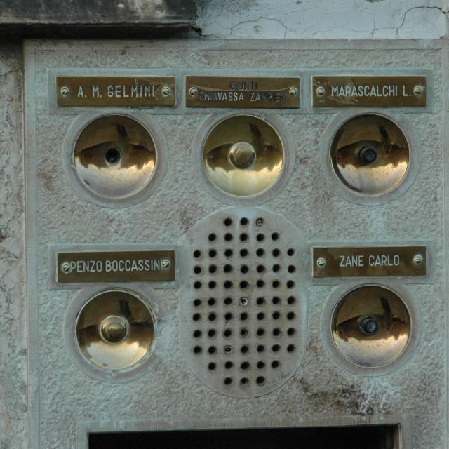 """""""Venetian doorbells"""" stock image"""