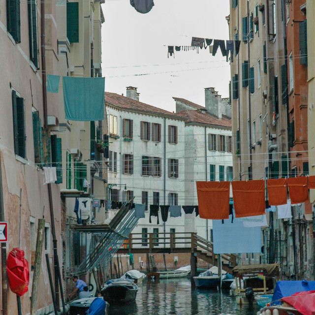 """""""Canal with laundry #2"""" stock image"""