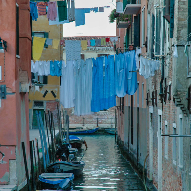 """""""Canal with laundry #3"""" stock image"""