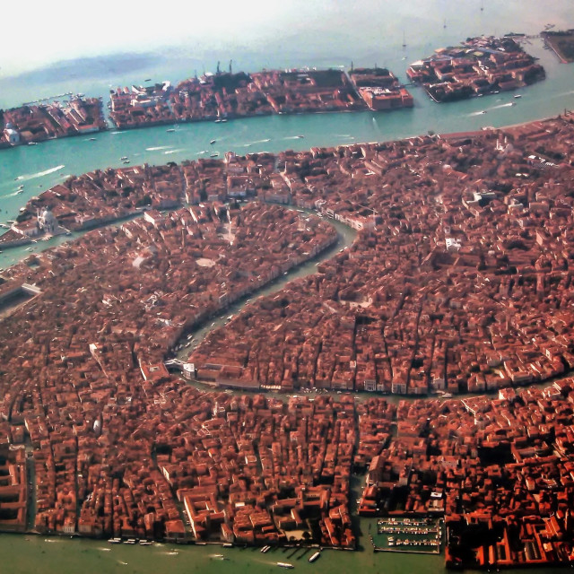 """Venice aerial"" stock image"