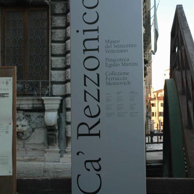 """""""Ca' Rezzonico sign"""" stock image"""