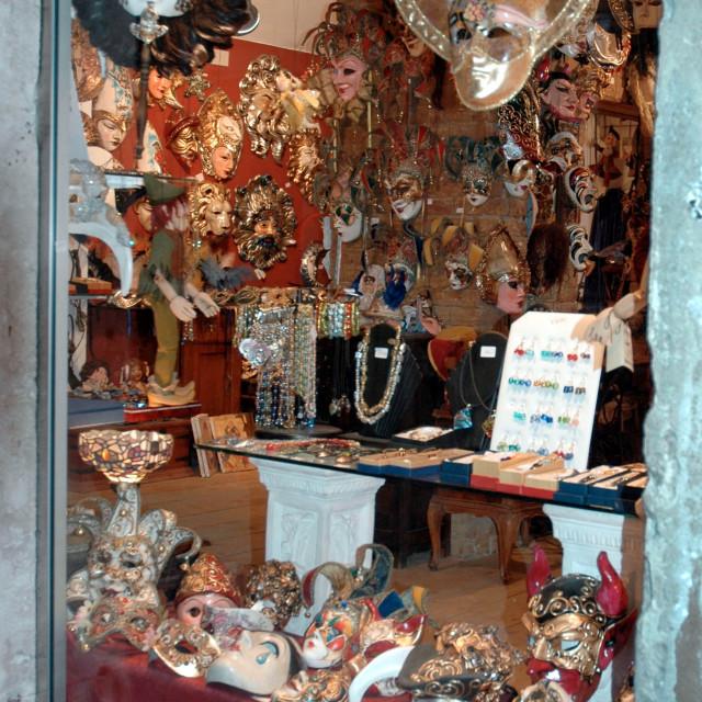 """Carnival mask shop"" stock image"