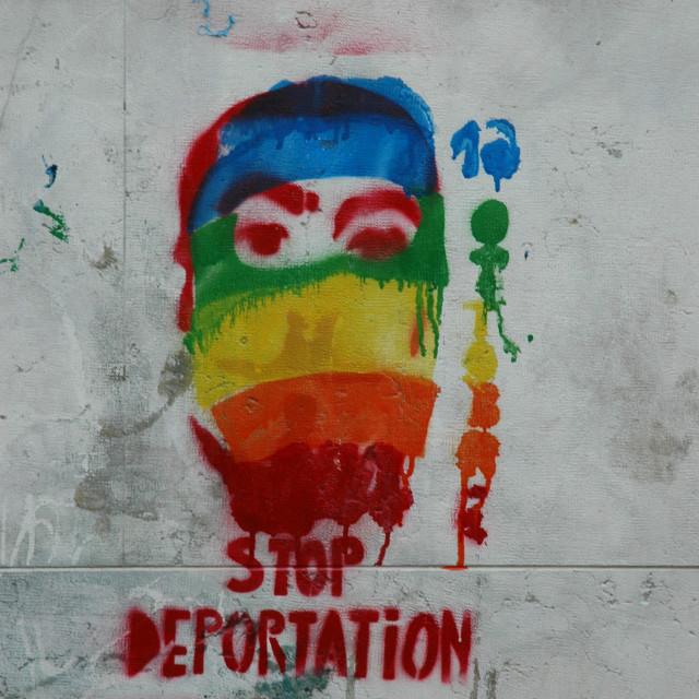 """""Stop Deportation"""" stock image"