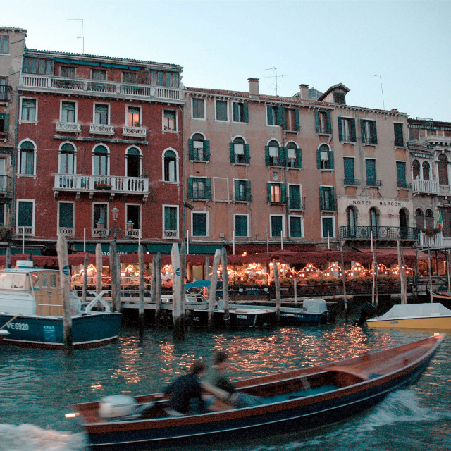 """""""Grand Canal at dusk"""" stock image"""