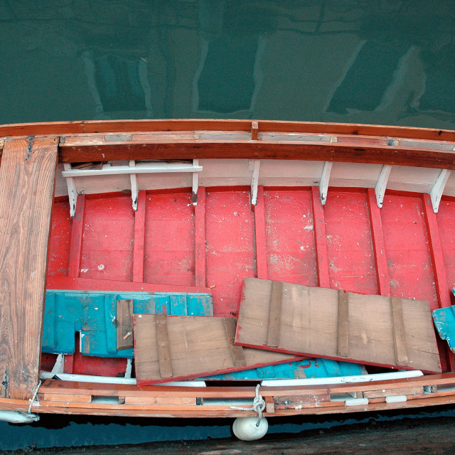 """""""Red-bottomed boat"""" stock image"""