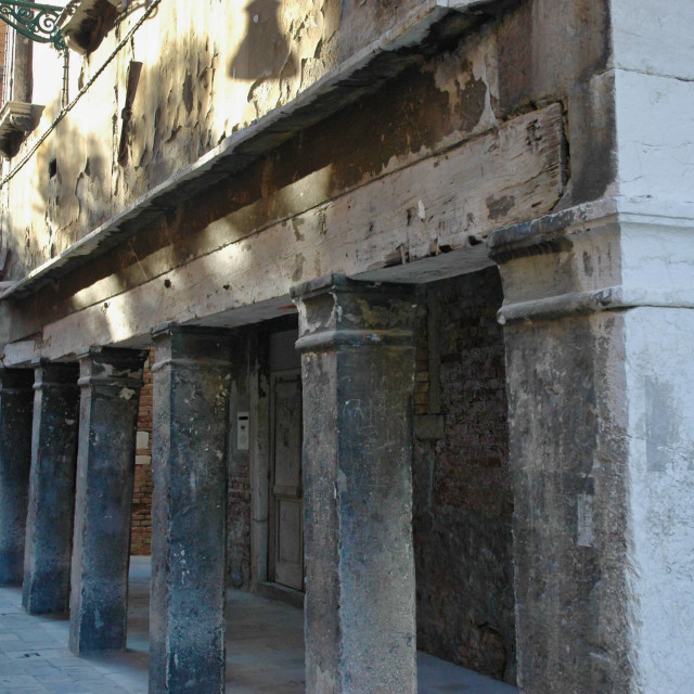 """Stone columns & beam"" stock image"