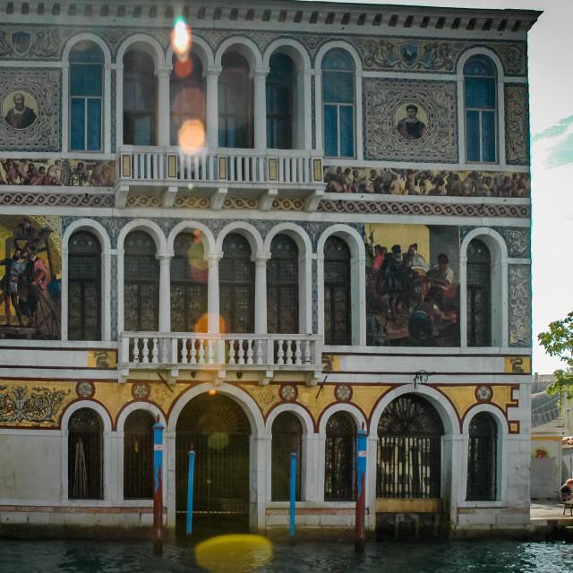 """Palazzo Barbarigo"" stock image"
