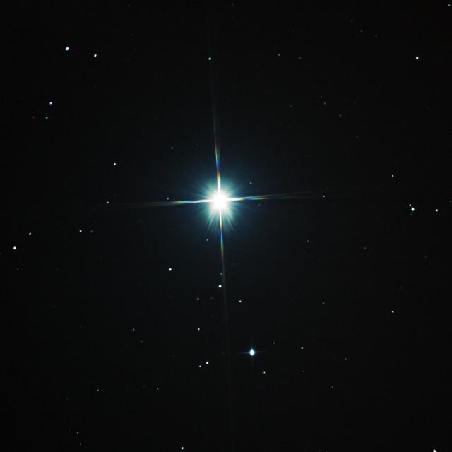 """The star Arcturus"" stock image"