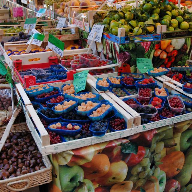 """Berries, Rialto market"" stock image"