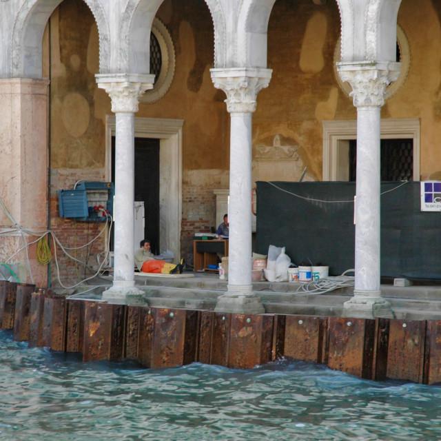 """Palace renovation"" stock image"