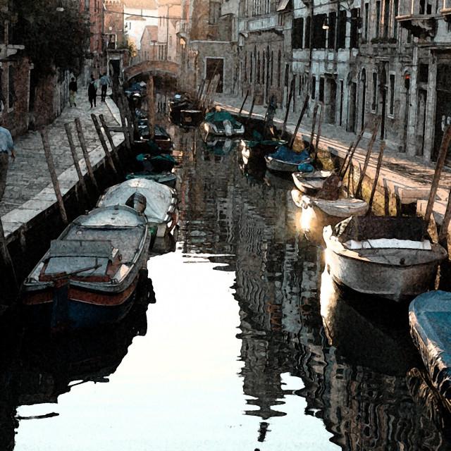 """Rio Malpaga, ""fresco"" effect"" stock image"