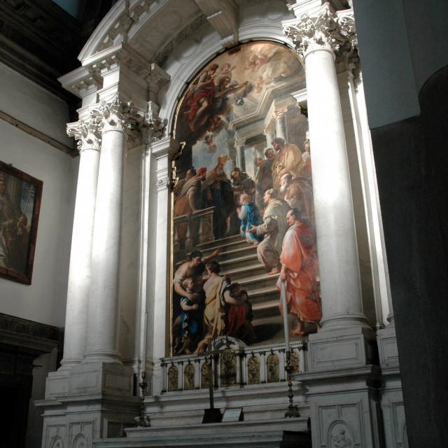 """""""Titian altarpiece"""" stock image"""