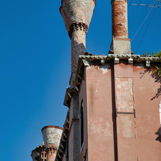 """Venetian chimneys"" stock image"