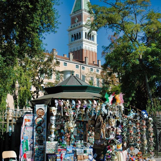"""Souvenirs & San Marco campanile"" stock image"