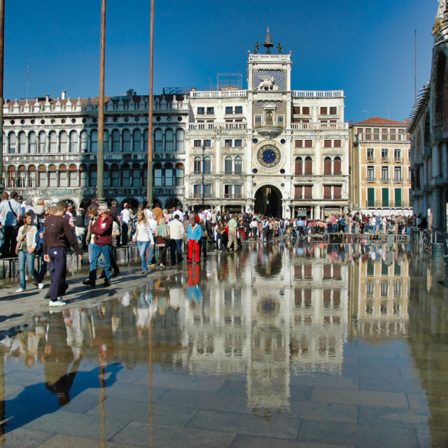 """""""Piazza San Marco partly flooded"""" stock image"""