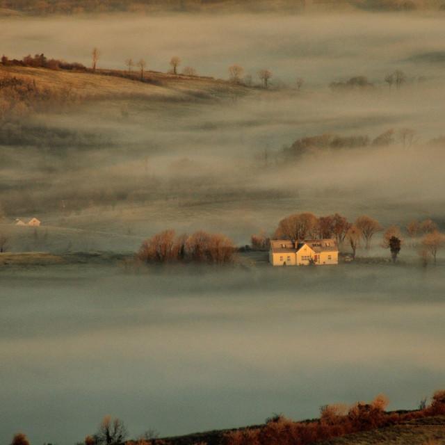 """Mists near knockmore"" stock image"