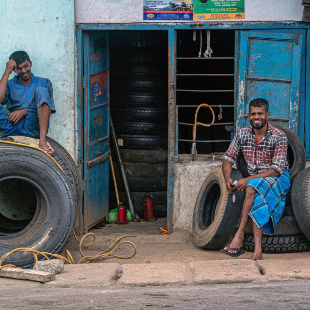 """""""TIRE DEALERS"""" stock image"""