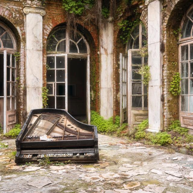 """Piano on the Floor"" stock image"