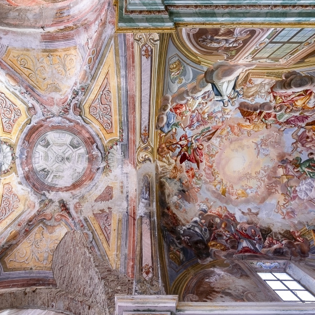 """""""Abandoned Church Ceiling"""" stock image"""