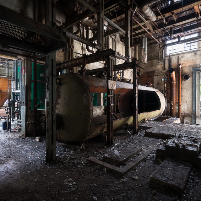"""""""Abandoned Industry in Decay"""" stock image"""