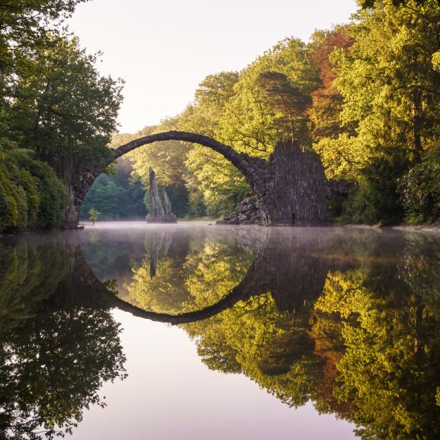 """""""Rakotz Bridge in Germany"""" stock image"""