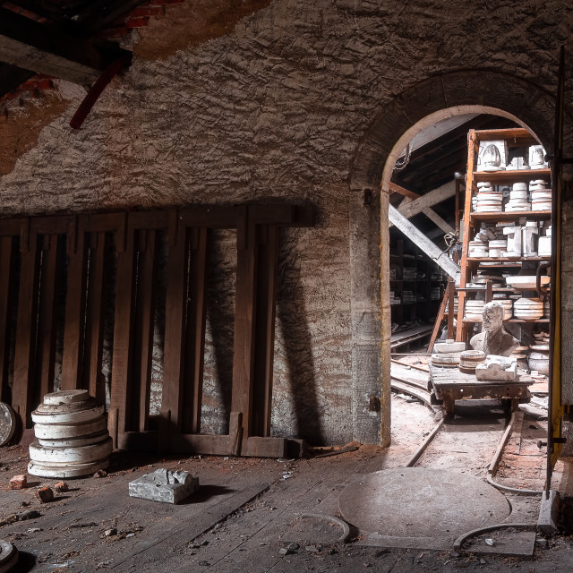 """""""Abandoned Pottery Factory"""" stock image"""