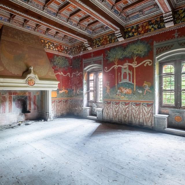 """""""Large Abandoned Fireplace"""" stock image"""