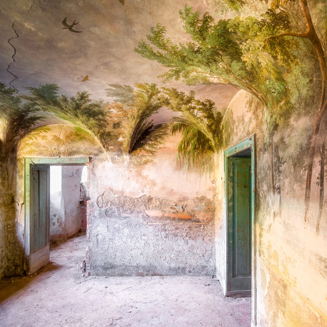 """Tropical Abandoned Fresco"" stock image"