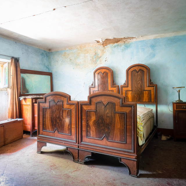"""""""Wooden Abandoned Beds"""" stock image"""