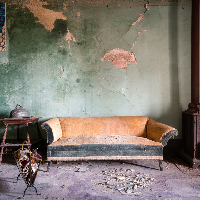 """Sofa Left Behind"" stock image"