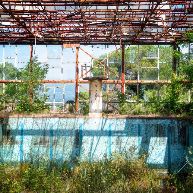 """Abandoned Swimming Pool"" stock image"