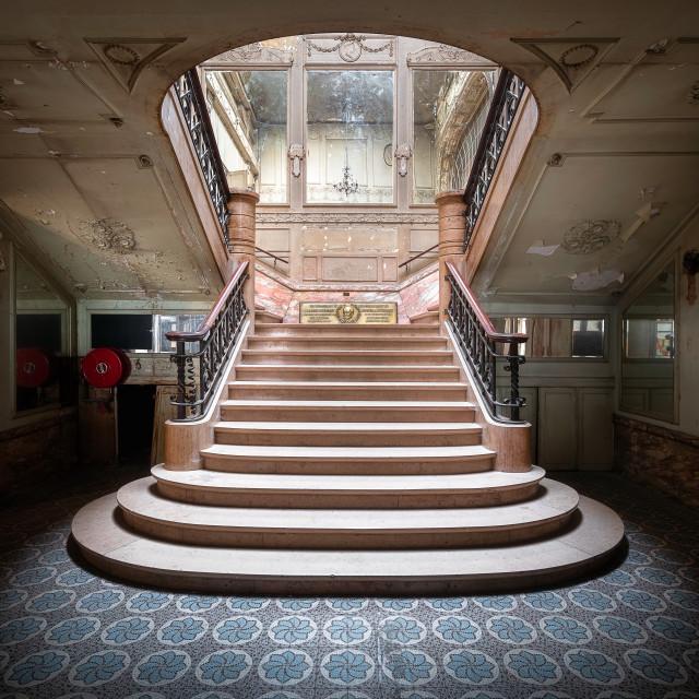 """Staircase Abandoned Aegidium Theater Brussels Belgium"" stock image"