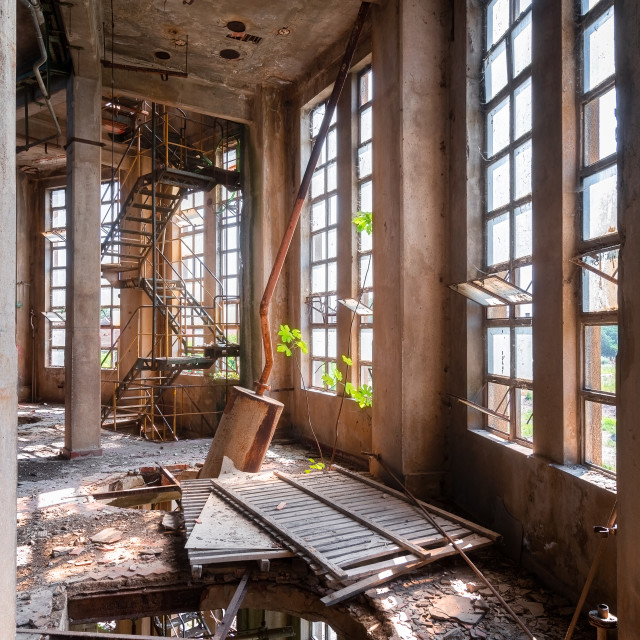 """""""Industry in Decay"""" stock image"""