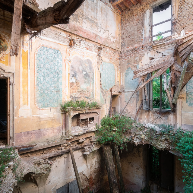 """""""Heavy Decay in Abandoned House"""" stock image"""