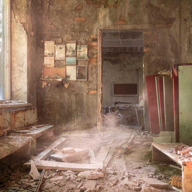 """""""School in Chernobyl Pripyat"""" stock image"""