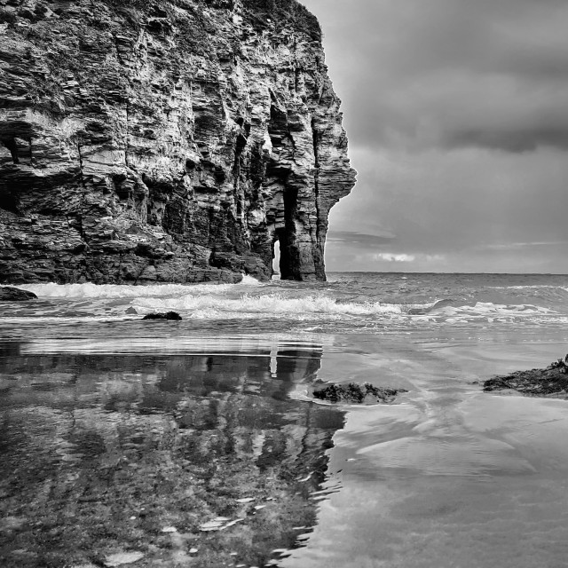"""Bossiney Cove, Cornwall"" stock image"