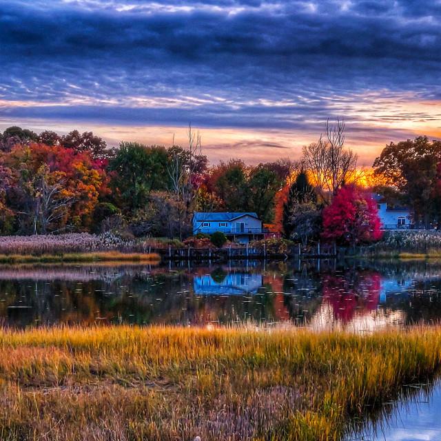 """""""Fall in Warwick RI"""" stock image"""