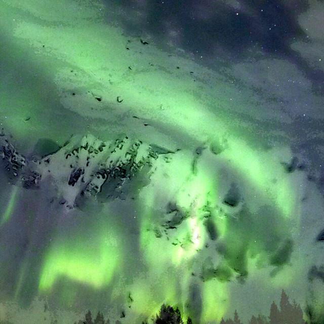 """Alpine Northern Lights"" stock image"