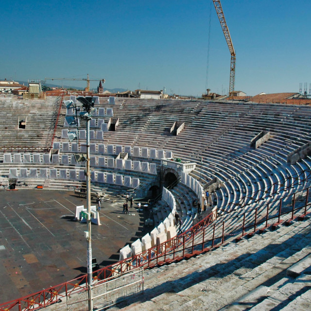 """Verona Roman arena interior detail"" stock image"
