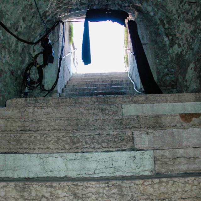 """Verona Roman arena steps."" stock image"