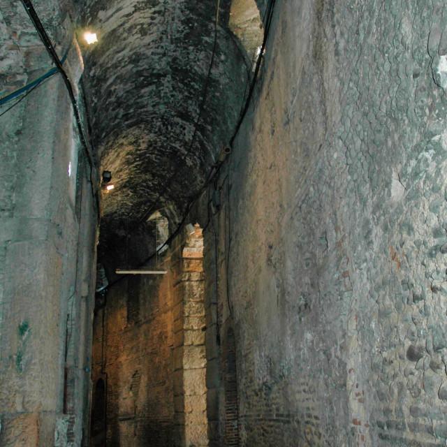 """Verona Roman arena corridor"" stock image"