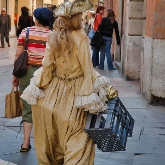 """Woman in period costume"" stock image"