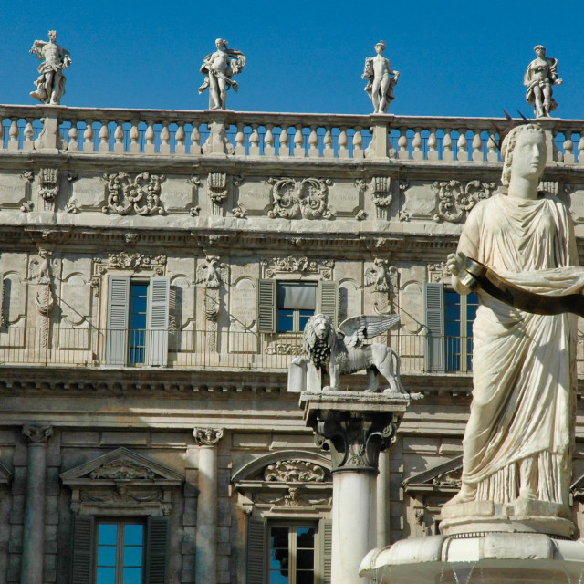 """""""Palazzo Maffei"""" stock image"""